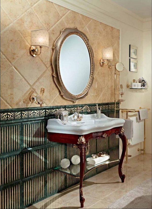 Bathroom · Санфаянс Lineatre: Hermitage
