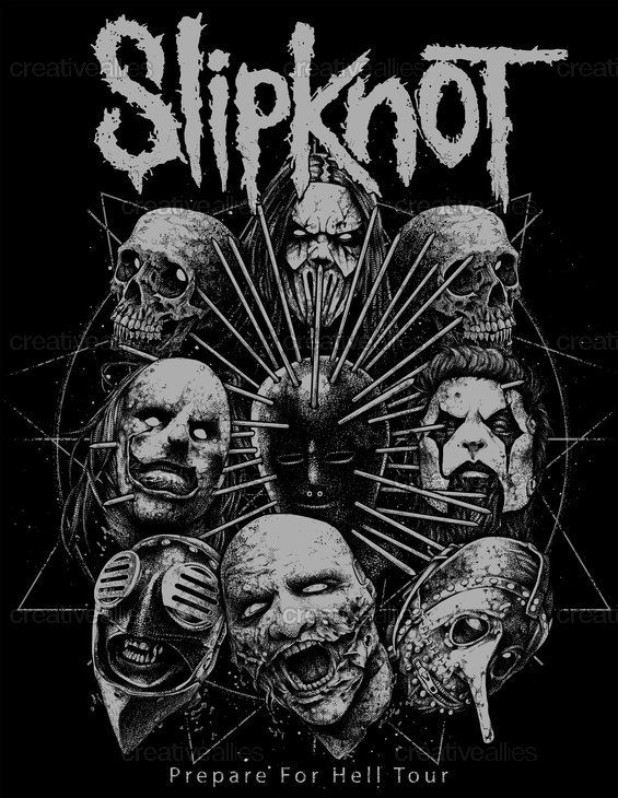 2018 年の slipknot merchandise graphic by sick666mick on