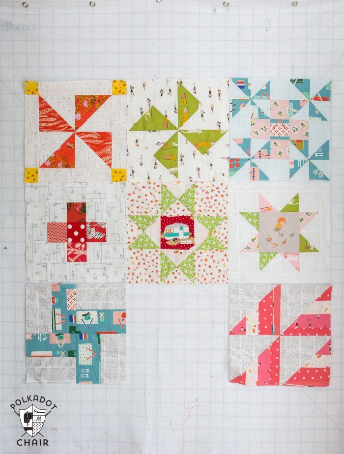 July Block Of The Month Ohio Star Quilt Block Star Quilt Blocks