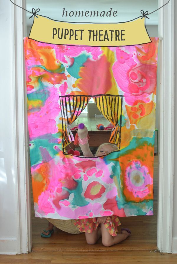 Homemade No Sew Puppet Theatre Kids Crafts Crafts For
