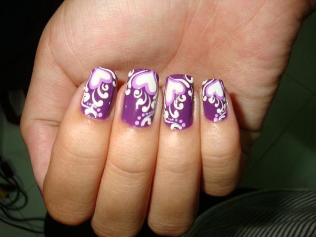 Image Result For Purple Wedding Nails