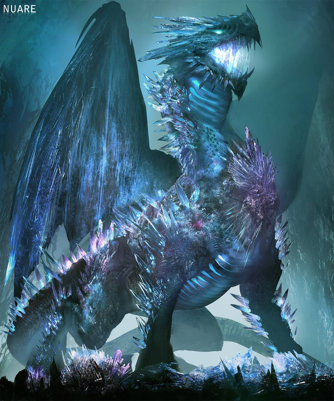 Crystal Dragon | Mythical creatures art, Dragon pictures, Fantasy creatures