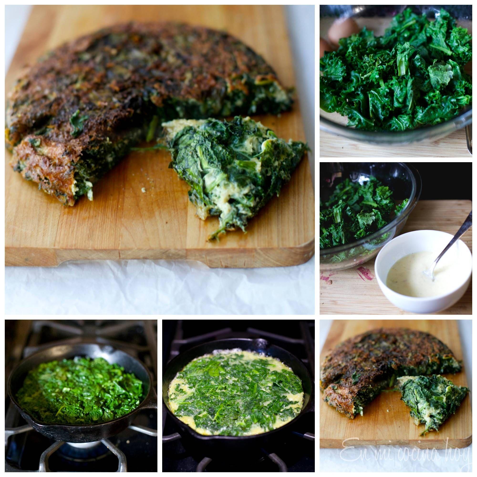 Tortilla De Espinacas En Mi Cocina Hoy Tortilla De Espinaca Espinacas Tortillas De Acelga