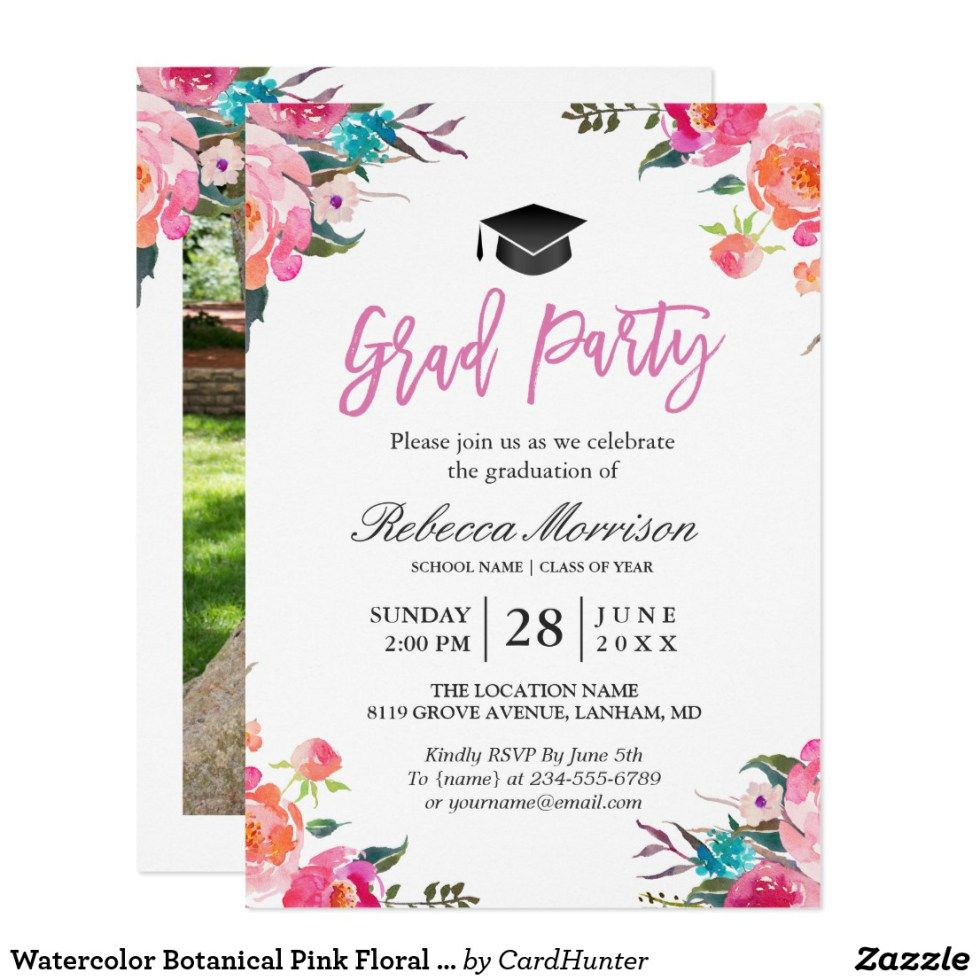 Its a grad party customizable watercolor botanical graduation party its a grad party customizable watercolor botanical graduation party invite invitation filmwisefo Gallery