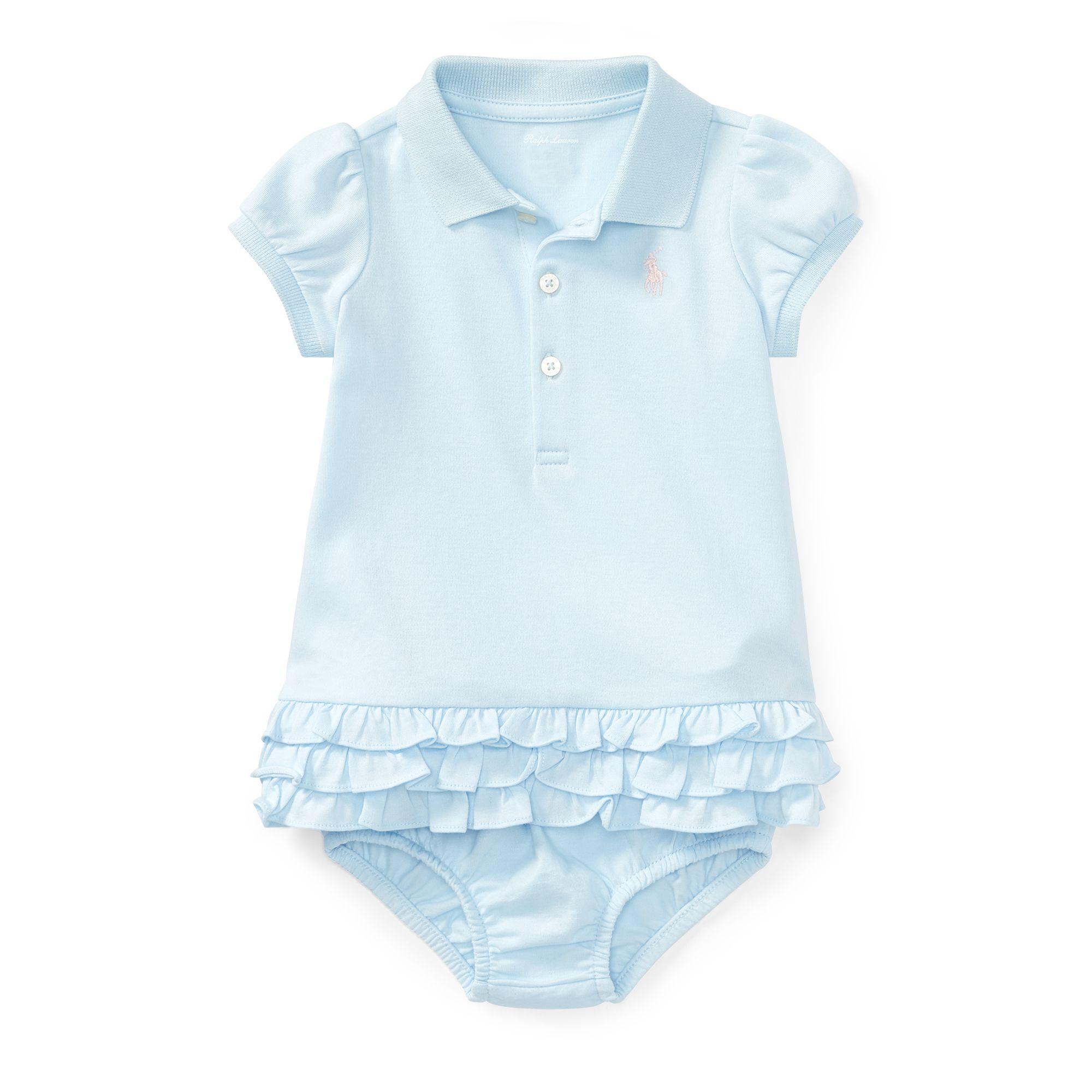 Ruffled Polo Dress & Bloomer Dresses & Rompers Baby Girl 0 24