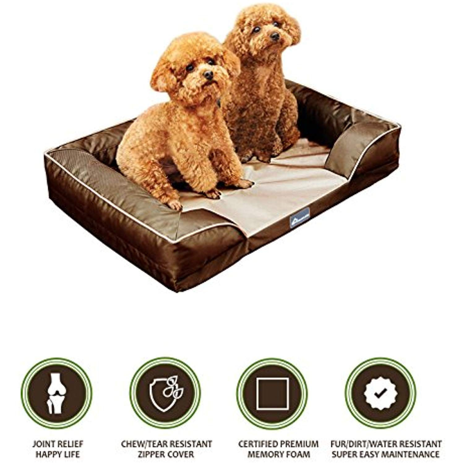 PetBed4Less Deluxe Dog Bed Sofa and Lounge w/Premium