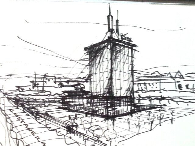 MMD Tower Sketch - by CMOF