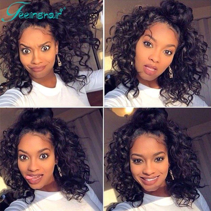 7a Glueless Full Lace Human Hair Wigs Deep Curly Short Wig 100 Brazilian Virgin Hair Lace Front Human Hair W Front Lace Wigs Human Hair Hair Styles Human Hair