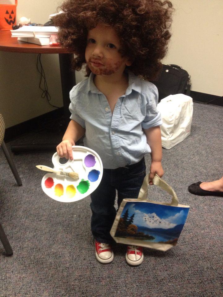 bob ross toddler costume