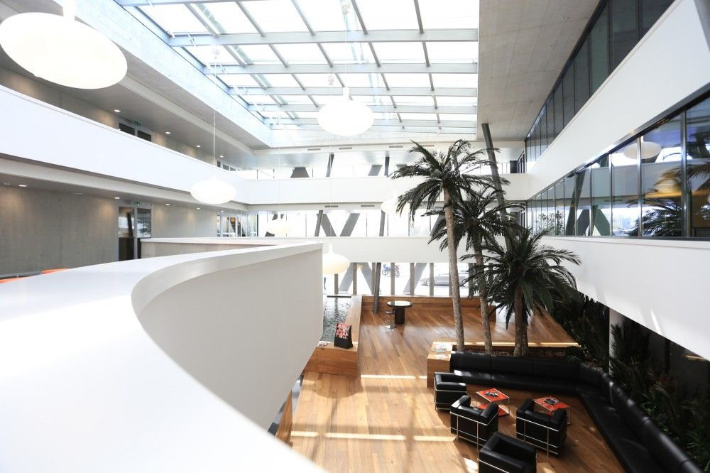 Gallery Of Swissquote Building In Gland Link Architectes 9 Building Modern Gallery
