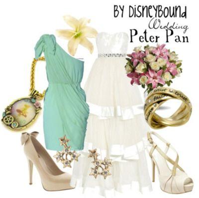 Peter Pan Wedding outfit.