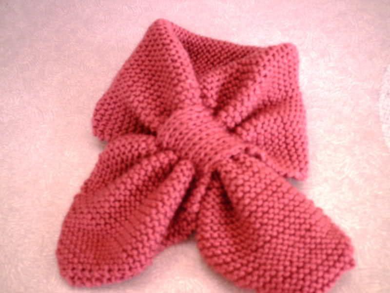 Patr n para realizar cuellecito de lana tipo orejitas de - Bufandas de lana originales ...