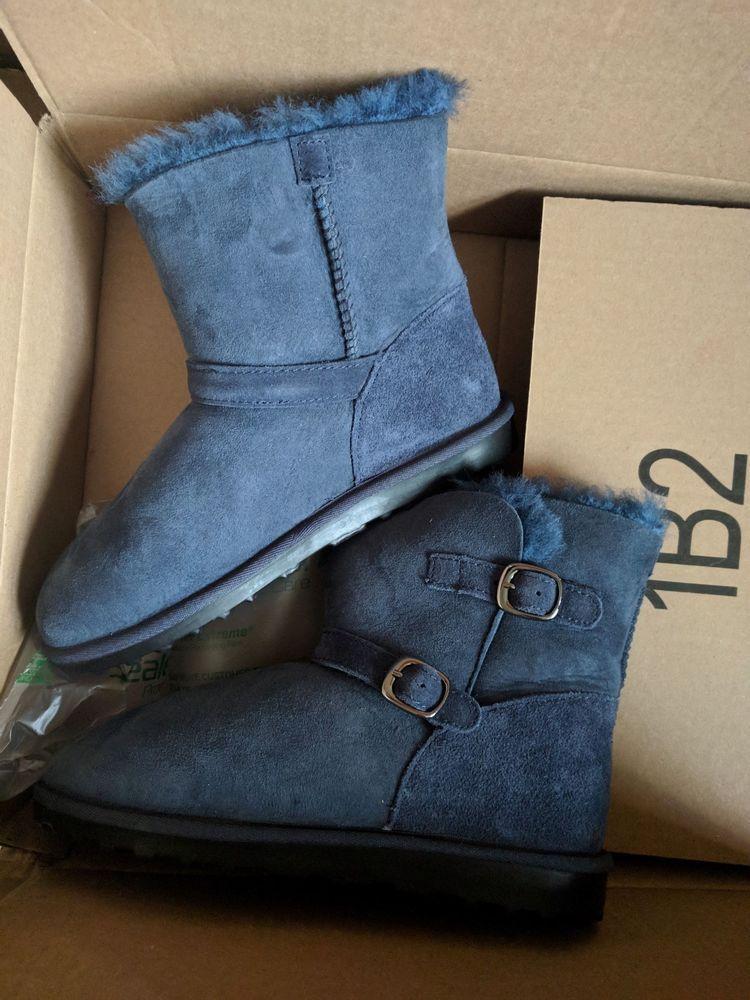 68916260071 Kirkland Signature Girls Shearling Buckle Boots Blue size 4 #fashion ...