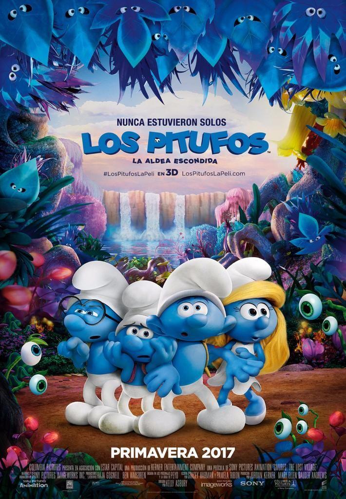 Los Pitufos La Aldea Escondida Cinezin Peliculas Infantiles De Disney Pitufos Pelicula Los Pitufos Pelicula