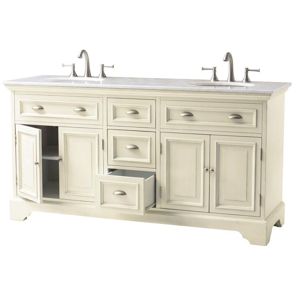 Home Decorators Collection Sadie 67 in. Double Vanity in ...