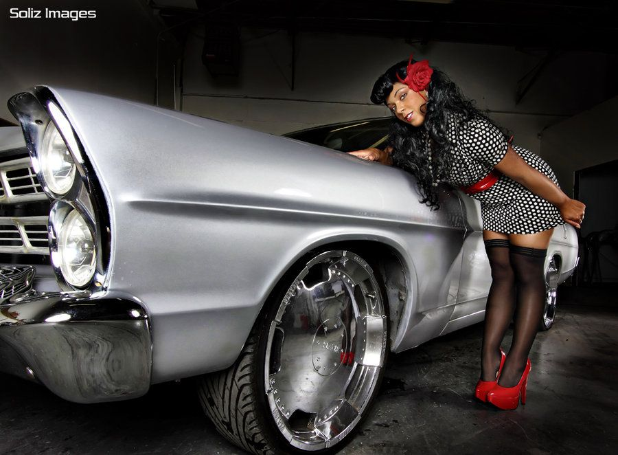 pin-up with car | Pin Up and Custom car 3 by ~soliz387 on ...