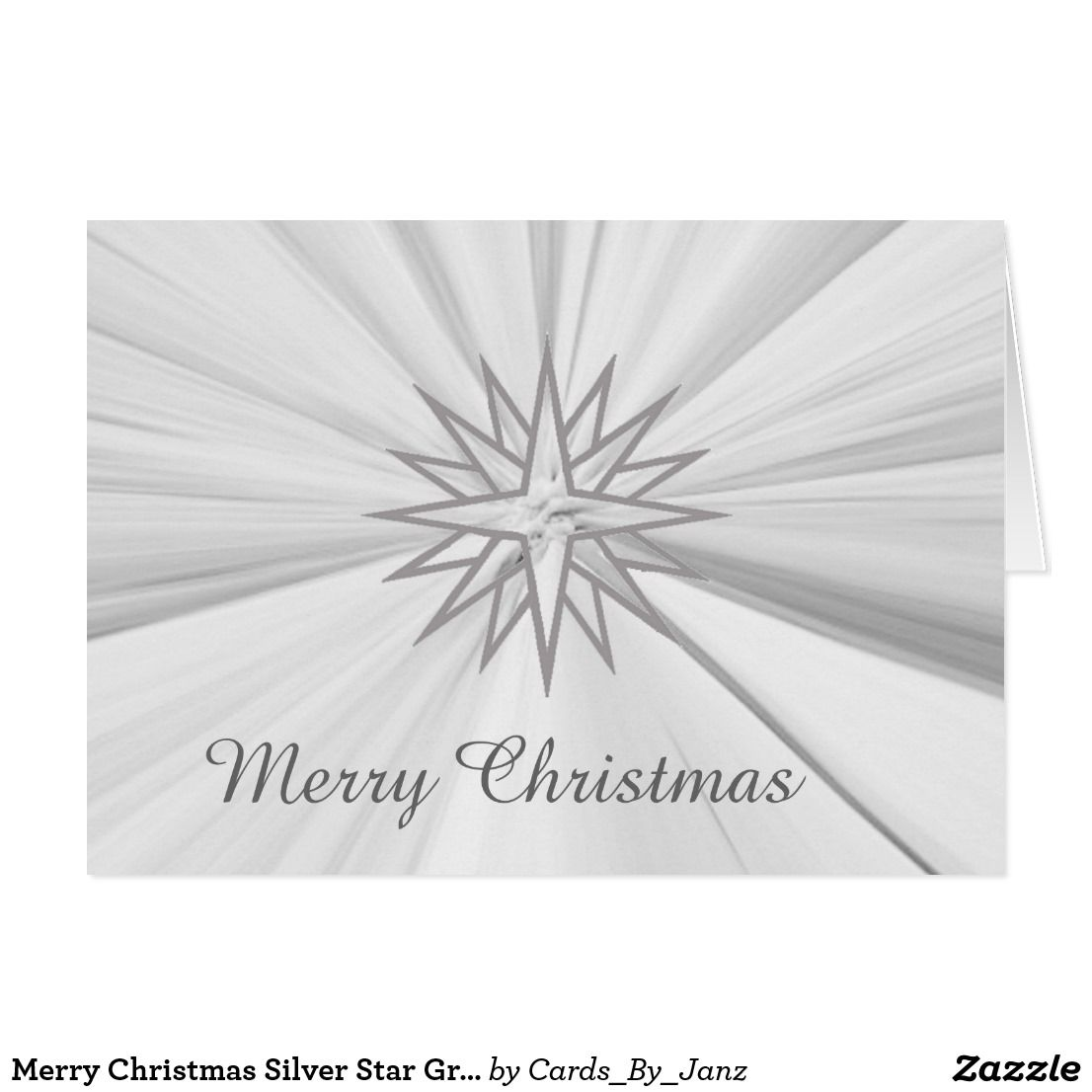 Merry christmas silver star greeting card by janz silver stars merry christmas silver star greeting card by janz kristyandbryce Images