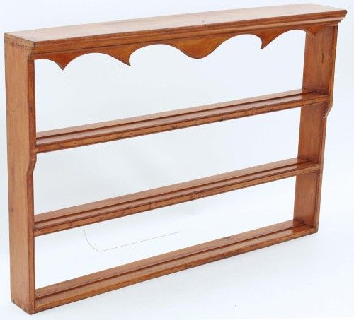 Wooden Plate Racks Wall Mounted | Antique 19C Victorian pine dresser wall plate rack display shelves : antique pine plate rack - pezcame.com