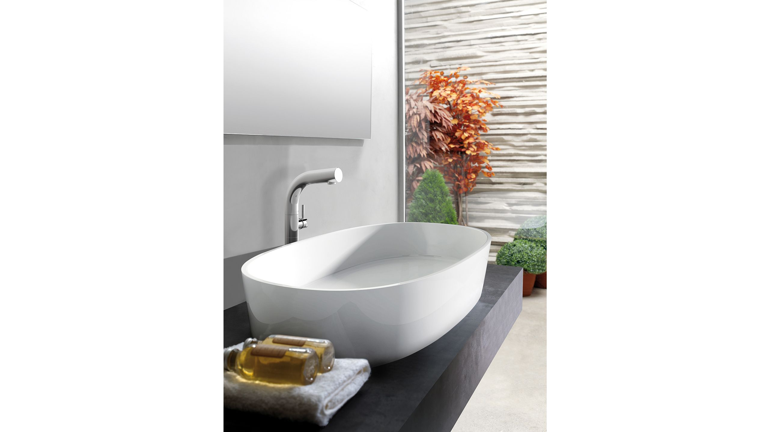 Ios 80 Is A Rimless Countertop Basin Designed To Complement