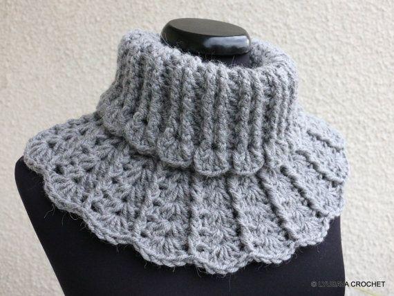 Crochet Pattern, Neck Warmer PATTERN, Chunky Scarf Pattern, Crochet ...