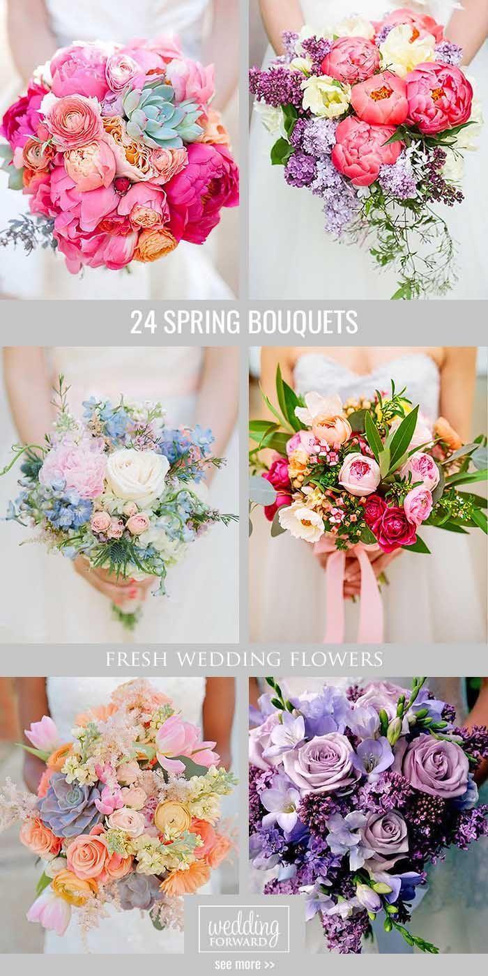 39 Fresh Spring Wedding Bouquets | Pinterest | Spring wedding ...