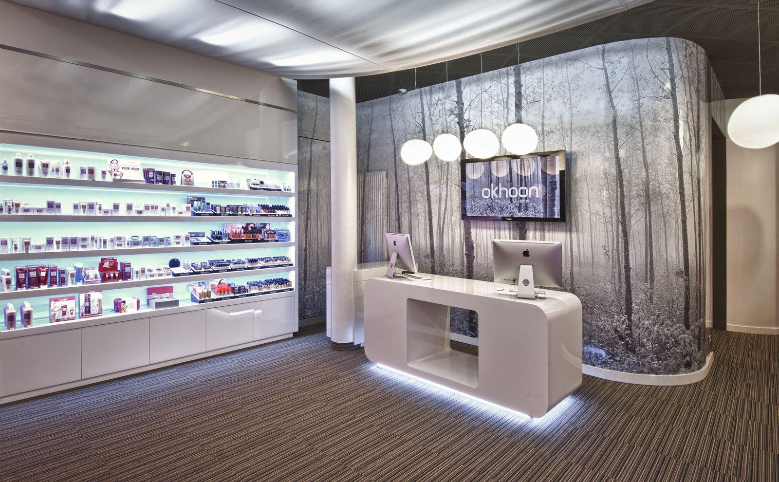 Okhoon des ronds dans l 39 eau design commercial nouveau concept store pour institut de - Deco institut de beaute ...