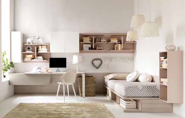 Cameretta con letto a soppalco. 10 Camerette Per Teenager Fitted Bedrooms Home Girls Bedroom Sets