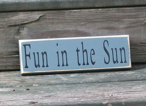 Fun in the Sun  Primitive Country Painted by thecountrysignshop, $7.00