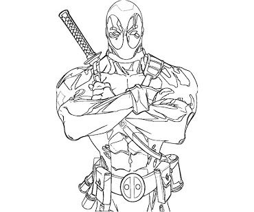 Deadpool Coloring Pages 6 Vectories Com Marvel Coloring Coloring Pages Colouring Pages