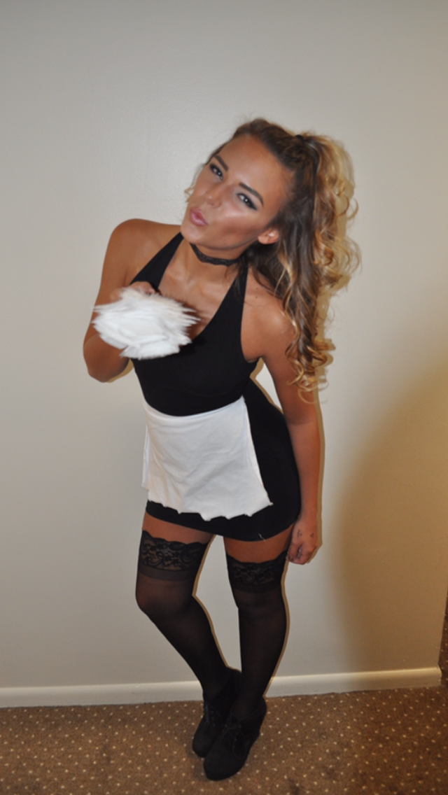 French Maid Halloween Costume  College  Maid Halloween -1405