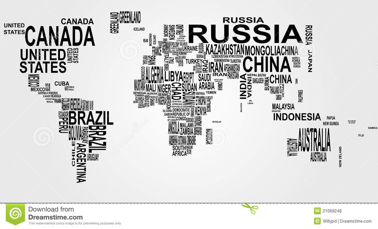 World map with country name royalty free stock photos image world map with country name stock vector illustration of english travel 21069248 gumiabroncs Gallery