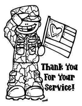 Veteran S Day Color Sheet Soldados Dibujo Dibujos