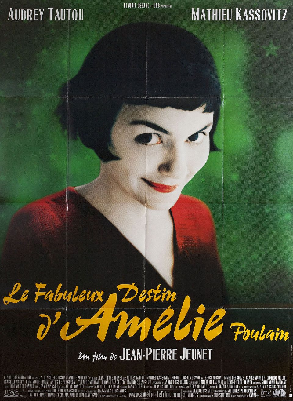 Amelie 2001 French Grande Poster Yann Tiersen French Movies Amelie