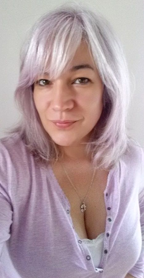 Jerome Russell Bblonde Pink Toner on untreated naturally grey hair ...