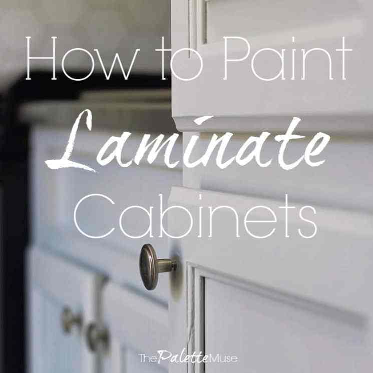 How To Paint Laminate Cabinets Without Sanding Painting Laminate Cabinets Laminate Cabinets Laminate Kitchen Cabinets