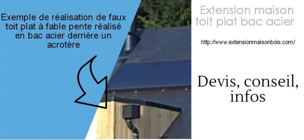 extension bac acier toit plat travaux extension. Black Bedroom Furniture Sets. Home Design Ideas
