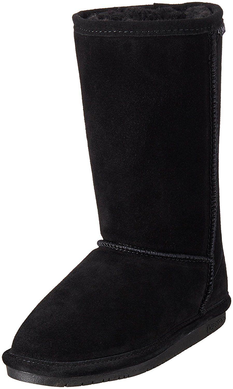 Bearpaw Black Womens Winter Boot Size 6   Wool Blend Lining Sheep Skin Foot bed
