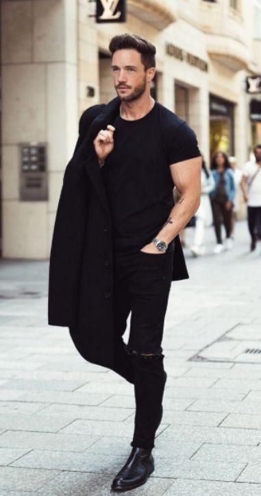 stunning all black male outfits 13