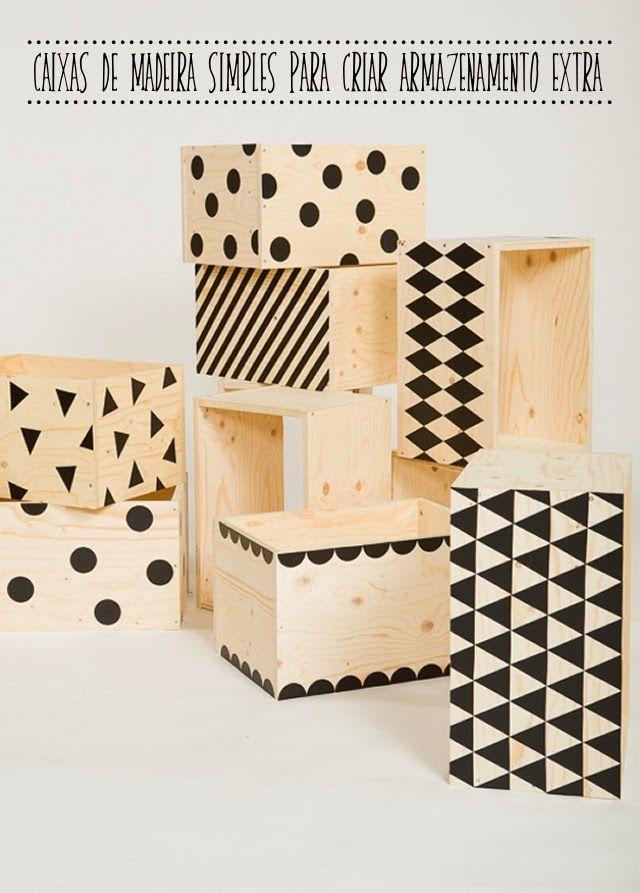 Caixas De Madeira Com Desenhos Geometricos Caixa De Madeira