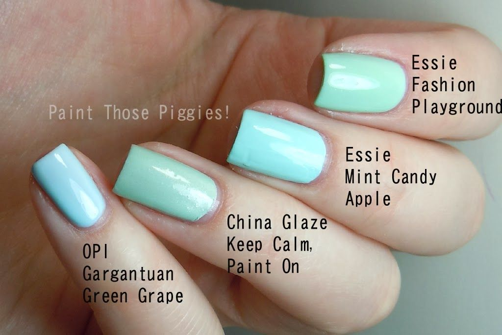 Essie Fashion Playground vs Essie Mint Candy Apple vs CG Keep Calm ...