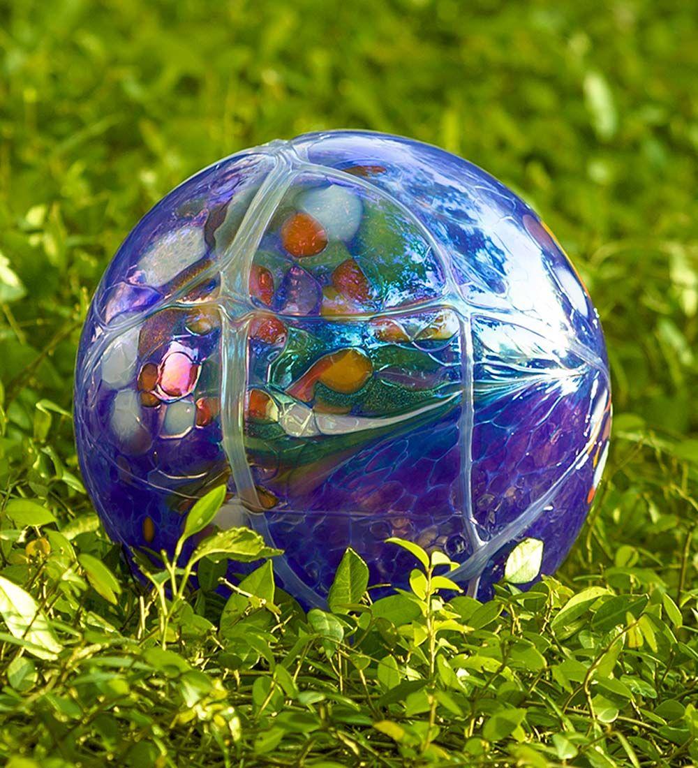 Hand-Blown Polish Glass Garden Ball   Decorative Garden Accents ...