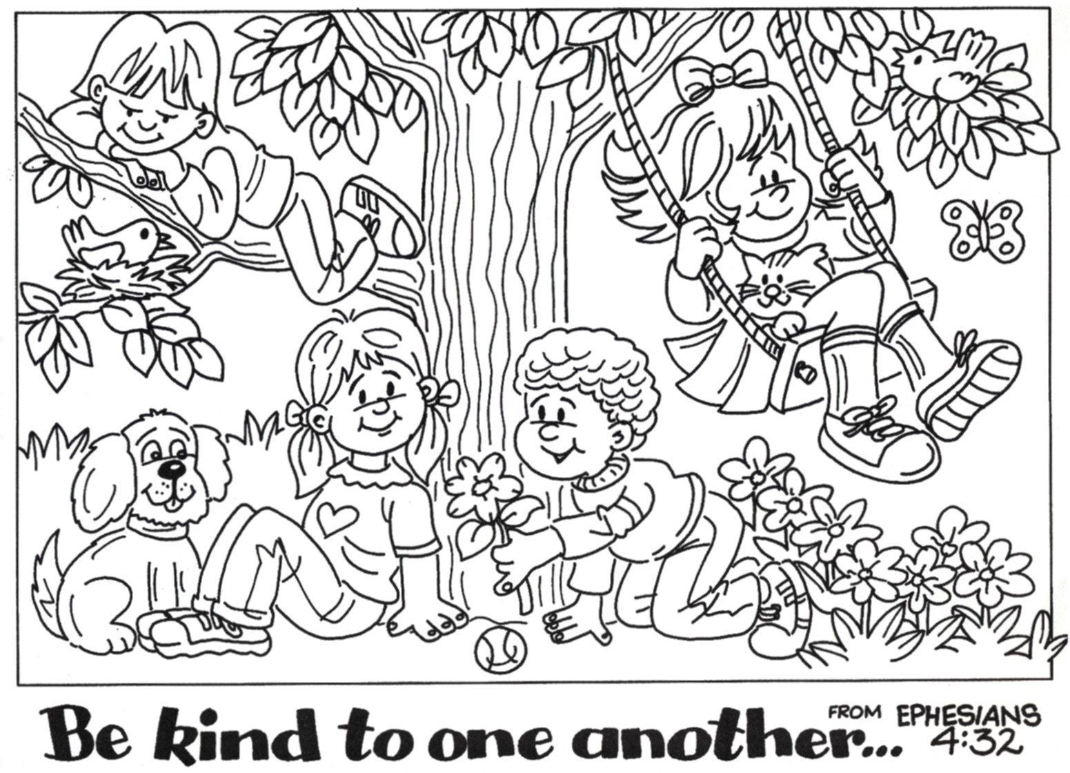 preschool coloring pages friends - photo#35