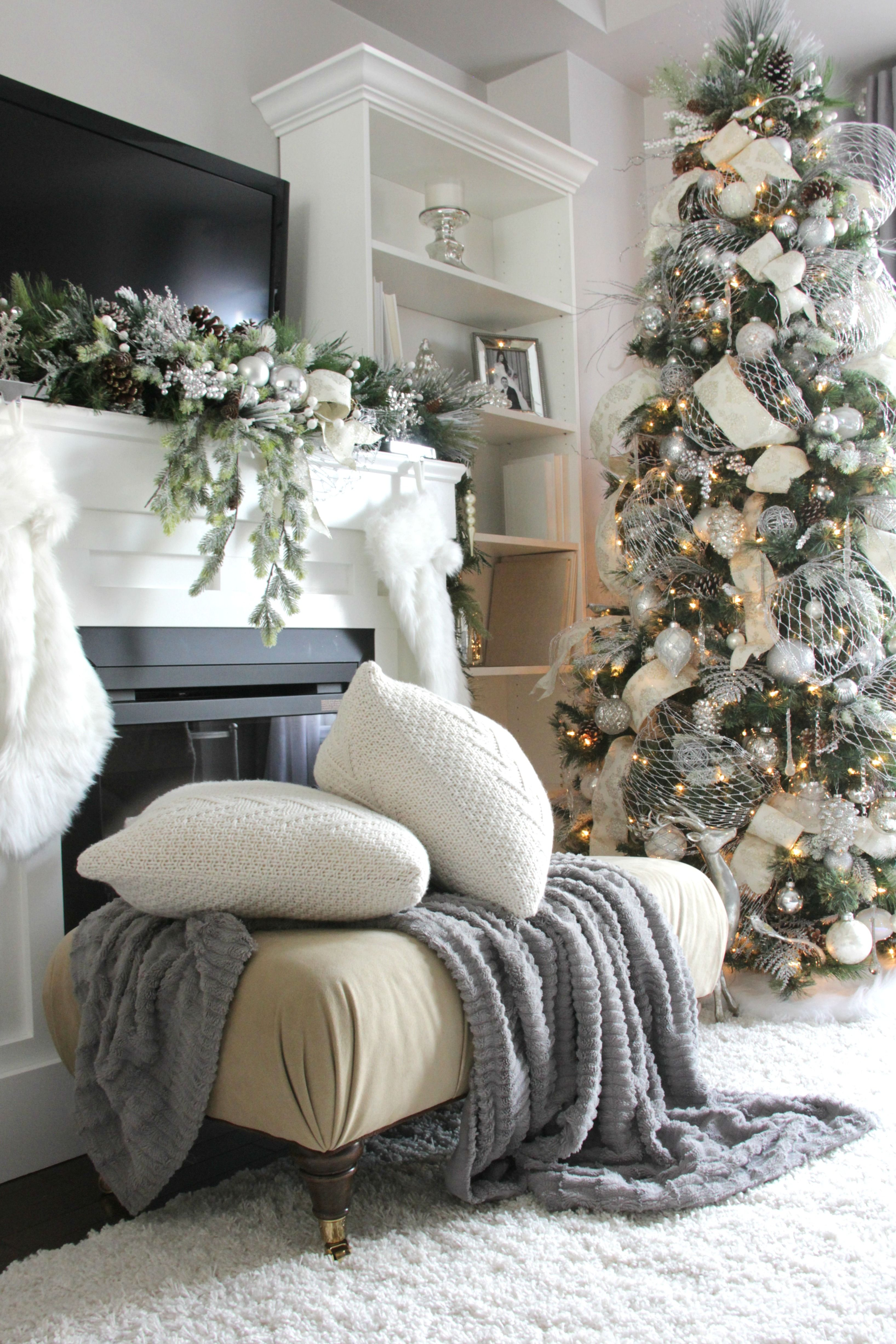 Winter Wonderland Living Room Christmas Living Rooms White
