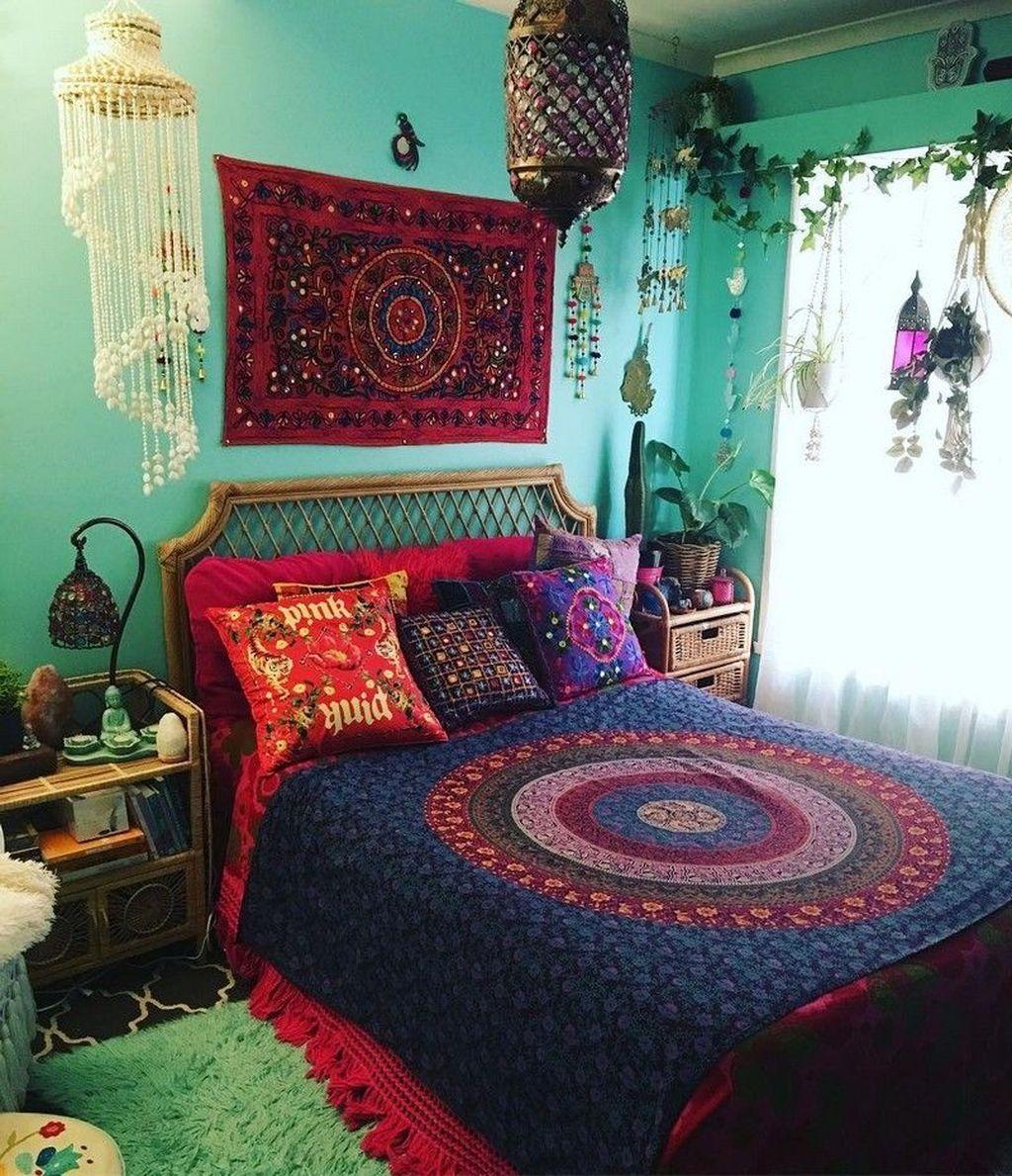 39 Cozy Diy Bohemian Bedroom Decor Ideas images