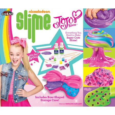 Nickelodeon Jojo Siwa Super Satisfying Slime Kit With Glue Activator Storage Container And Mix Ins Walmart Com Slime Kit Jojo Siwa Birthday Arts And Crafts For Kids