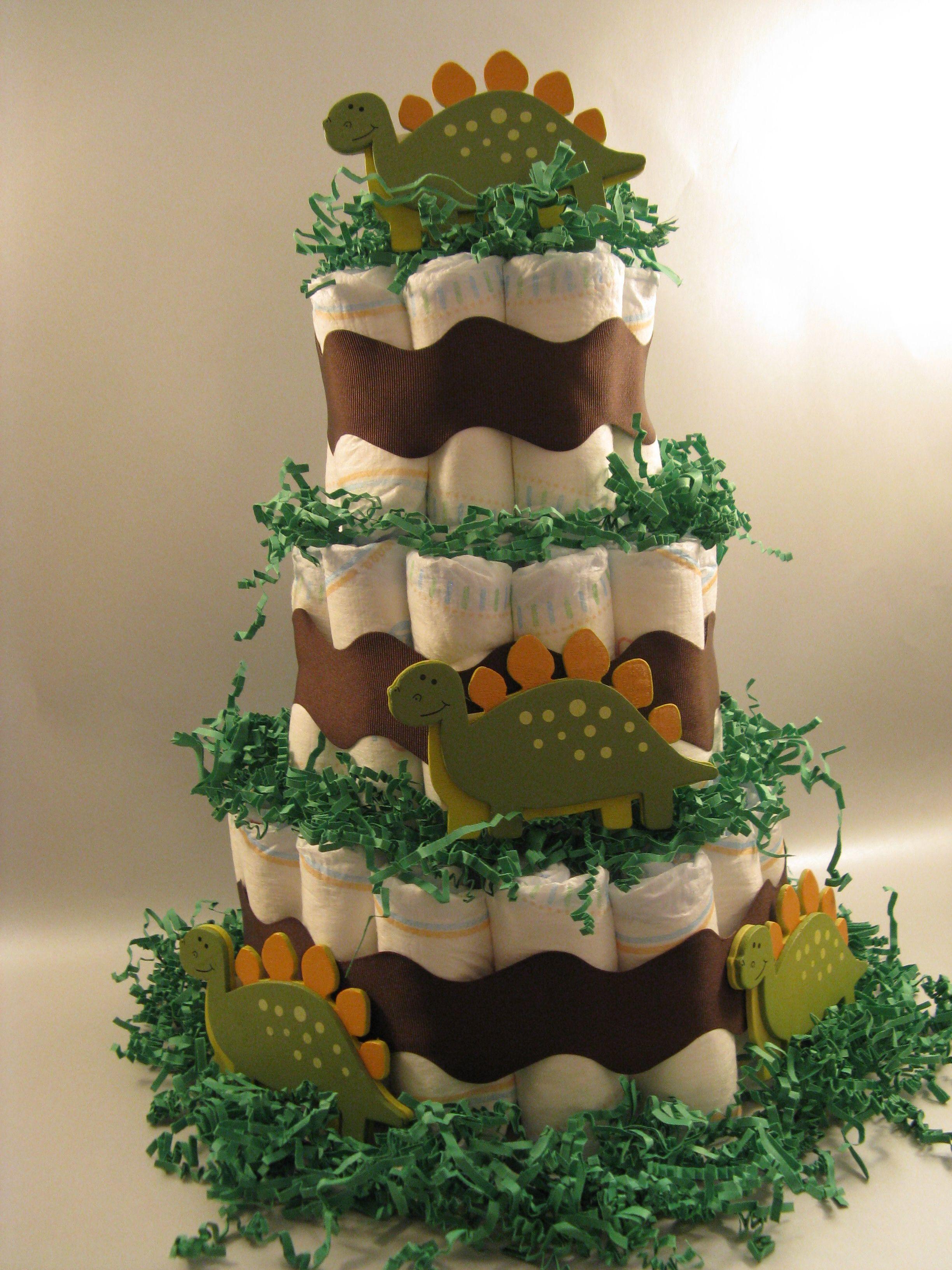 baby shower shower ideas forward dinosaur themed diaper cake from my
