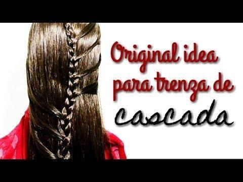 Aprende Cómo Hacer Un Original Peinado Con Trenza En Cascada Paso A Paso Trenza Cascada Peinados Con Trenzas Trenzas De Cascada