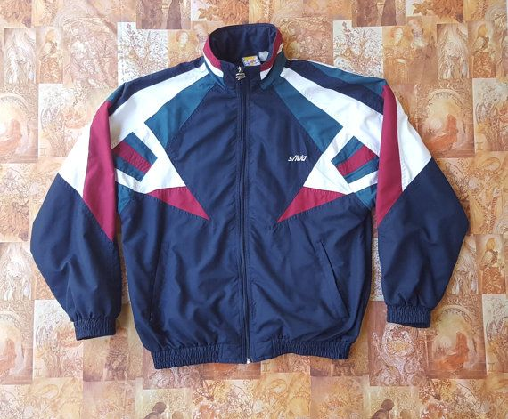 80s Sfida Shell Sports Track Jacket   Unisex   Vintage   Color Colour Block    Windbreaker by NEONPOINT d25fb1515