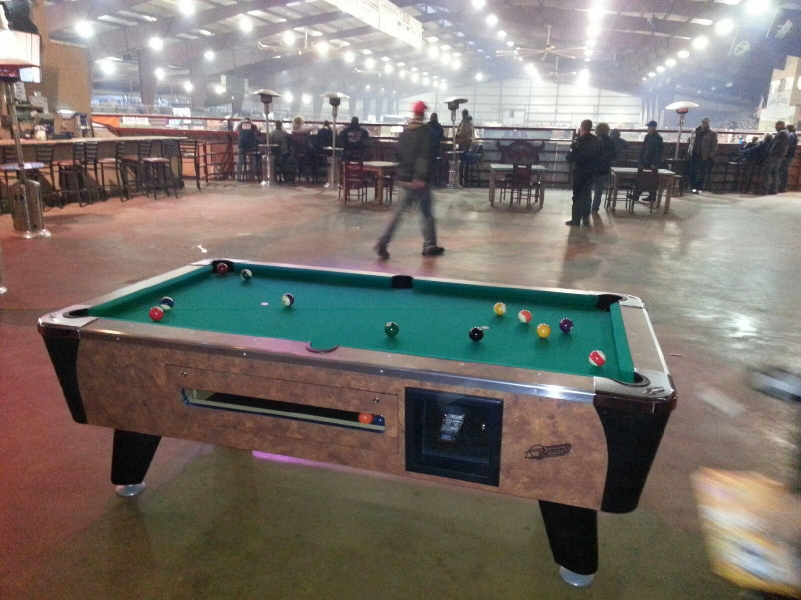 Dynamo Coin Operated Pool Table Installed Near Burleson TX - Dynamo coin operated pool table