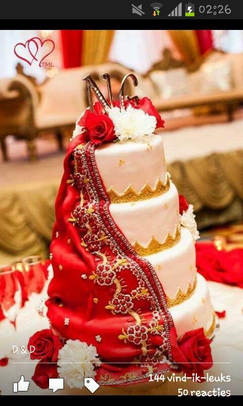 Dupatta Cake My Weakness Desert Indian Wedding Cakes